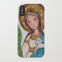 agnes cecile iPhone & iPod Cases featuring Saint Agnes by Flor Larios Art