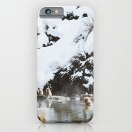 Bath Time in the Hot Springs iPhone Case