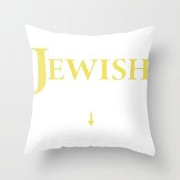 I'm Jewish Wanna Check Funny Jew Gift Throw Pillow