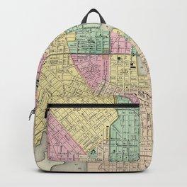 Vintage Map of Baltimore MD (1856) Backpack