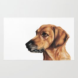 Dog Artwork in coloured pencil Rug