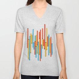 Paper Stripes - Color variation 1 Unisex V-Neck