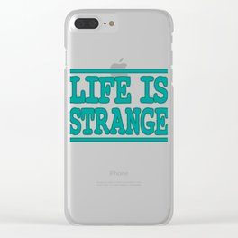 """Life Is Strange"" tee design. Make your life stranger with this simple yet attractive tee!  Clear iPhone Case"