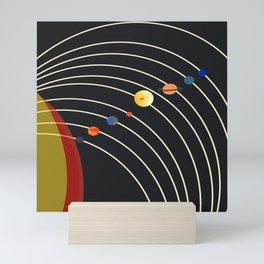 Minimalistic Planet Chart Mini Art Print