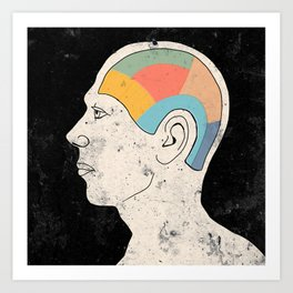 Talking Head I Art Print