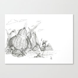 Gourd Home of the Water Sprite Canvas Print