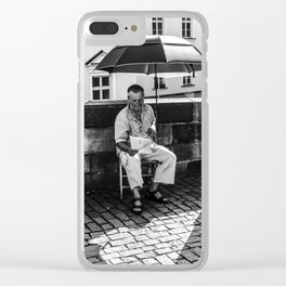 Umbrella Man Clear iPhone Case
