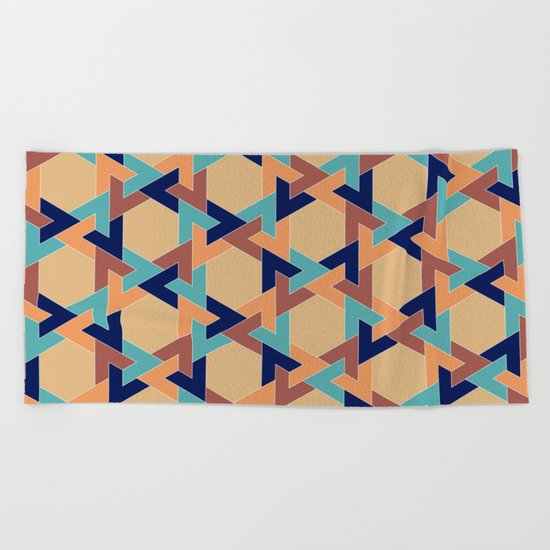 Geometric pattern 1977 Beach Towel