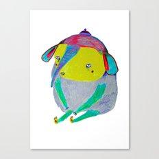 Baby Elephant. elephant art, elephant illustration, cute, kids, nature, animals, Canvas Print
