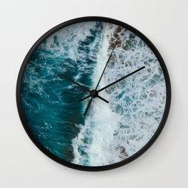 crashing waves- beach Wall Clock