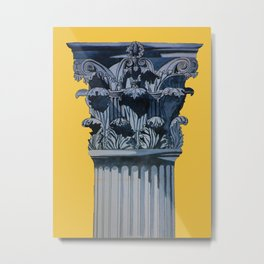 Blue Acanthus Metal Print