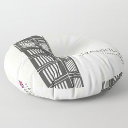 Elizabeth tower clock big Ben in London Floor Pillow