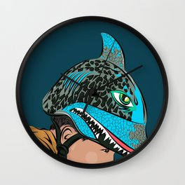 The Shark Helmet Wall Clock