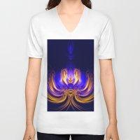 meditation V-neck T-shirts featuring Meditation by Art-Motiva