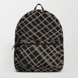 Black & Gold Lines Backpack