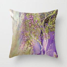 Mystic Purple Throw Pillow