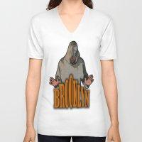 brooklyn V-neck T-shirts featuring BROOKLYN  by Robleedesigns