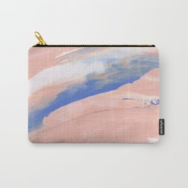 Pink Paint Strokes Carry-All Pouch