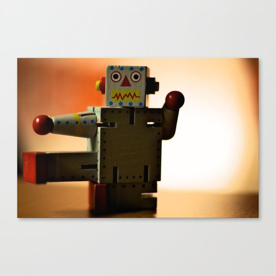 Kung Fu Robot Canvas Print