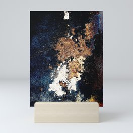 Alien Continents ruined wall texture grunge Mini Art Print
