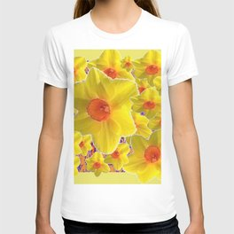 YELLOW-GOLD DAFFODILS FLOWER COLLAGE T-shirt