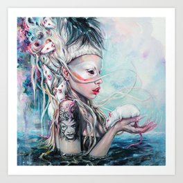 Yolandi The Rat Mistress 	 Art Print