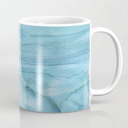 Ice Blue Marble Coffee Mug