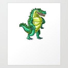 Crocodile Brother Alligator Reptile Animal Art Print