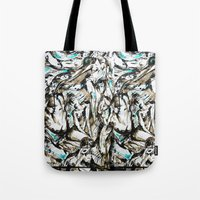 the who Tote Bags featuring Who? by Lily Mandaliou