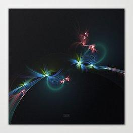 Fey Lights Fractal in Aurora 01 Canvas Print