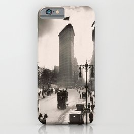 Vintage Photograph of The NYC Flat Iron Building 2 iPhone Case