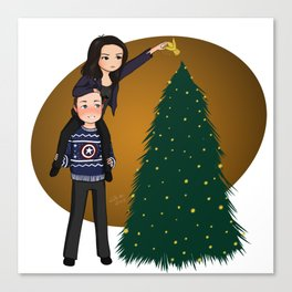 ugly xmas sweater philinda Canvas Print