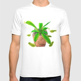tropical pitcher plant watercolor painting T-shirt