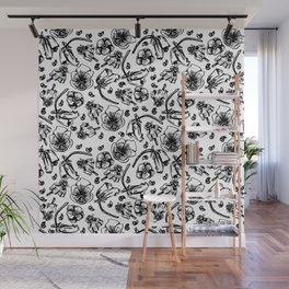 B/W flowers Wall Mural