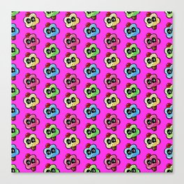 Cupcake With A Cherry On Top Pattern Same Way Pink Canvas Print
