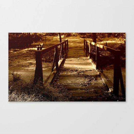 Old Bush Bridge Canvas Print