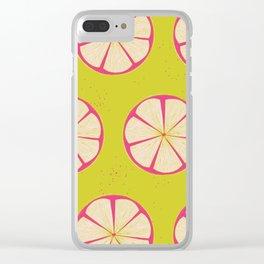 Pink Lemons Clear iPhone Case