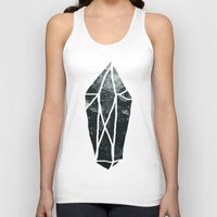 geode Tank Tops featuring Dark Crystal by Leah Flores
