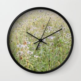Wildflowers in the morning Wall Clock