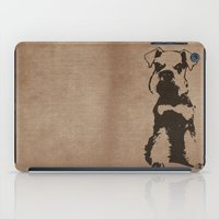 schnauzer iPad Cases featuring Miniature Schnauzer by illustrious state