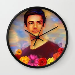 Barry with Flowers Wall Clock