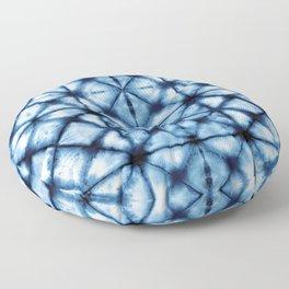 Shibori Paper Blues Floor Pillow