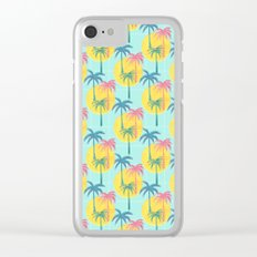 Retro Palms Clear iPhone Case