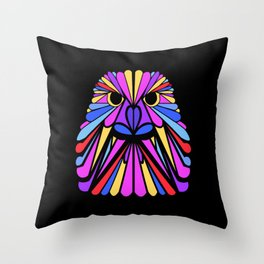 Birds of a Feather - Psychedelic Bubble Gum Throw Pillow