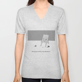 stay within the lines Unisex V-Neck