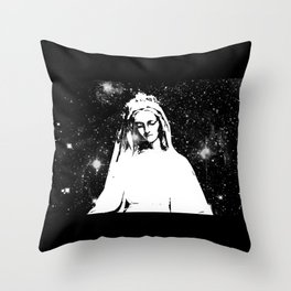 Mary Watches from the Heavens Throw Pillow