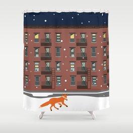 Winter in New York Shower Curtain