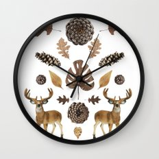 WOODS COLLAGE Wall Clock