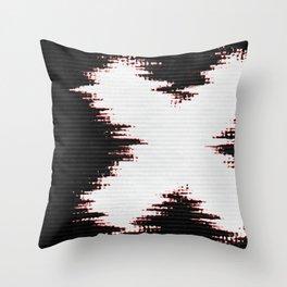 X Static Glitch Throw Pillow