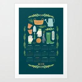 2019 Herb Garden Calendar Art Print